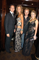 Left to right, BRENDAN COLE, LADY VICTORIA HERVEY, SCOTT HENSHALL and HOFIT GOLAN at a party to celebrate the 50th Anniversary of Gina Shoes held at The Bar, The Dorchester, Park Lane, London on 19th September 2006.<br />