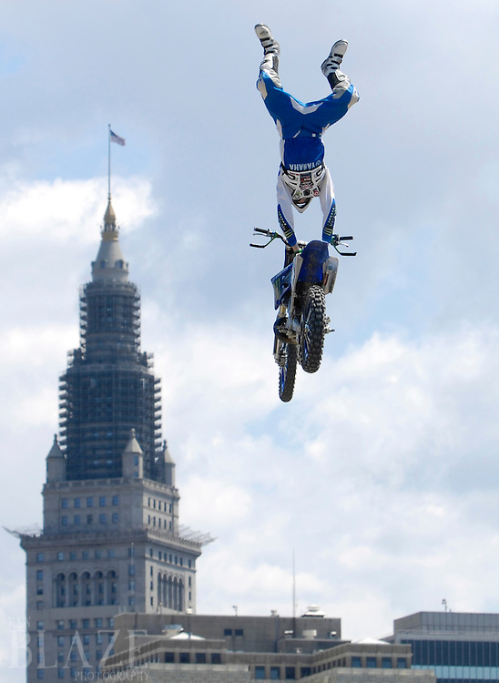 Nate Adams at the FMX Finals at the AST Dew Tour Right Guard Open in Cleveland...Photo by Ken Blaze