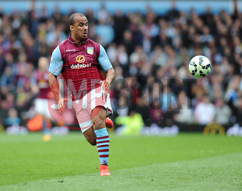 Aston Villa's Gabriel Agbonlahor  - Photo mandatory by-line: Joe Meredith/JMP - Mobile: 07966 386802 - 09/05/2015 - SPORT - Football - Birmingham - Villa Park - Aston Villa v West Ham United - Barclays Premier League