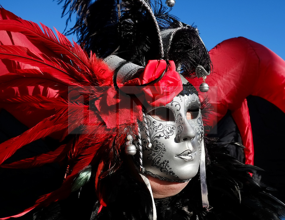© Licensed to London News Pictures. <br /> 01/11/2014. <br /> <br /> Whitby, Yorkshire, United Kingdom<br /> <br /> Joanne Wood from Scarborough poses for a picture during the Whitby Goth Weekend. <br /> <br /> The event this weekend brings together thousands of extravagantly dressed followers of Victoriana, Steampunk, Cybergoth and Romanticism who all visit the town to take part in celebrating Gothic culture. This weekend marks the 20th anniversary since the event was started by local woman Jo Hampshire.<br /> <br /> Photo credit : Ian Forsyth/LNP