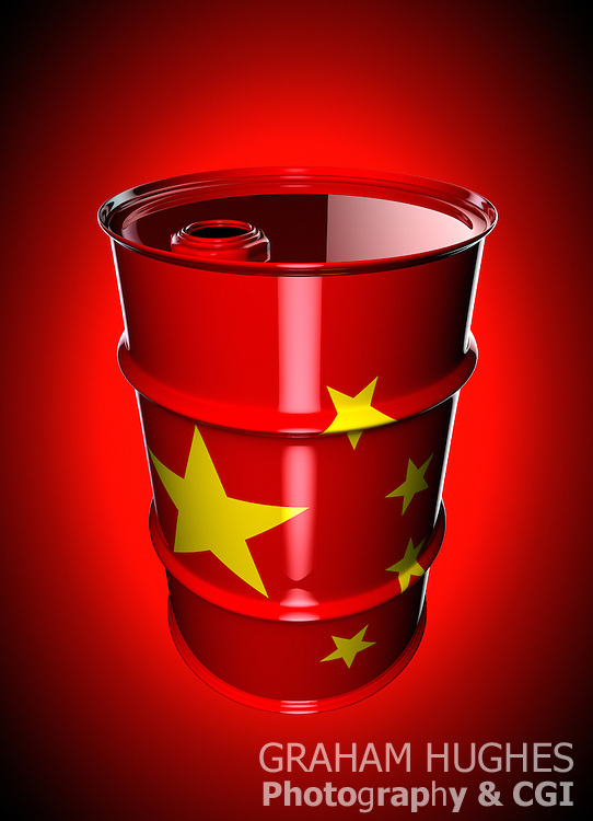 Chinese Flag Oil Drum