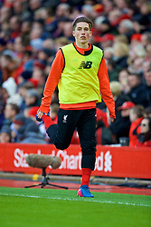 LIVERPOOL, ENGLAND - Saturday, January 28, 2017: Liverpool's substitute Harry Wilson warms-up during the FA Cup 4th Round match against Wolverhampton Wanderers at Anfield. (Pic by David Rawcliffe/Propaganda)