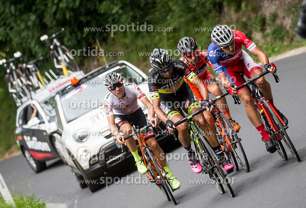 Enrico Salvador (ITA) of Tirol Cycling Team, Tomas Buchacek (CZE) of Elkov-Author Cycling team, Ivan Santaromita (ITA) of Nippo-Vini Fantini, Gorazd Per (SLO) of KK Adria Mobil during Stage 2 of 24th Tour of Slovenia 2017 / Tour de Slovenie from Ljubljana to Ljubljana (169,9 km) cycling race on June 16, 2017 in Slovenia. Photo by Vid Ponikvar / Sportida