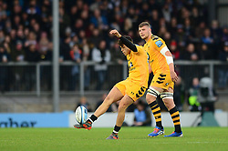 Jacob Umaga of Wasps - Mandatory by-line: Dougie Allward/JMP - 30/11/2019 - RUGBY - Sandy Park - Exeter, England - Exeter Chiefs v Wasps - Gallagher Premiership Rugby