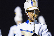 The Milpitas High School Marching band performs at halftime during the Oct. 5, 2012 home game against Mountain View High School in Milpitas, Calif.  The Trojans would go on to win 42-7.  Photo by Stan Olszewski/SOSKIphoto.