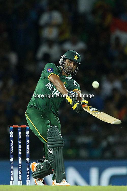 Sohail Tanvir during the ICC World Twenty20 semi final match between Sri Lanka and Pakistan held at the Premadasa Stadium in Colombo, Sri Lanka on the 4th October 2012<br /> <br /> Photo by Ron Gaunt/SPORTZPICS