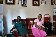 Howard Hospital, Zimbabwe. November, 2012. Grace and Betty at Betty's home. Both women work as health care professionals at the Howard Hospital.