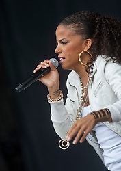 Ms. Dynamite plays on the Main Stage, Rockness, Saturday, 11th June 2011..RockNess 2011, the annual music festival which takes place in Scotland at Clune Farm, Dores, on the banks of Loch Ness near Inverness..Pic ©2011 Michael Schofield. All Rights Reserved..