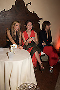 LAURA BARDIGER; ANASTASIA LENGLET; MARIANA VECELLIO, Sarah Lucas- Scream Daddio party hosted by Sadie Coles HQ and Gladstone Gallery at Palazzo Zeno. Venice. 6 May 2015.