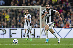 April 19, 2017 - Barcelona, Spain - Gonzalo Higuain of Juventus FC during the UEFA Champions League Quarter Final second leg match between FC Barcelona and Juventus at Camp Nou Stadium on April 19, 2017 in Barcelona, Spain. (Credit Image: © NurPhoto via ZUMA Press)