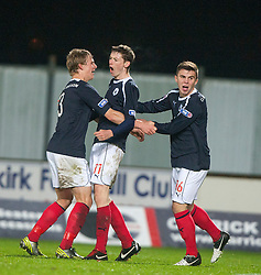 Falkirk's Conor McGrandles (11) cele scoring their first goal..Falkirk 2 v 1 Hamilton, 24/11/2012..©Michael Schofield.