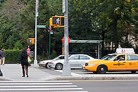 pedestrian crossing in New York City October 2008