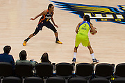 Brianna Kiesel of the Dallas Wings brings the ball up court against the Connecticut Sun during a WNBA preseason game in Arlington, Texas on May 8, 2016.  (Cooper Neill for The New York Times)