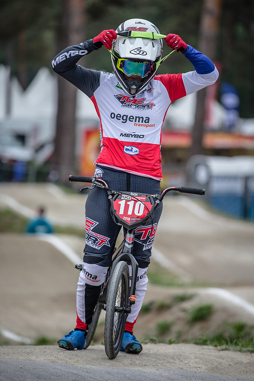 #110 (SMULDERS Laura) NED at Round 6 of the 2018 UCI BMX Superscross World Cup in Zolder, Belgium