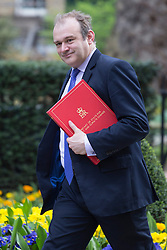 © licensed to London News Pictures. London, UK 16/04/2013. Secretary of State for Energy and Climate Change, Edward Davey arriving Downing Street for Cabinet meeting on Tuesday, 16 April 2013. Photo credit: Tolga Akmen/LNP