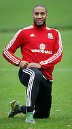 Ashley Williams during the Wales Training at the Vale Resort, Hensol<br /> Picture by Mike Griffiths/Focus Images Ltd +44 7766 223933<br /> 10/11/2015