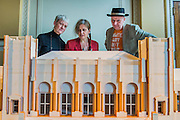 Royal Academicians Rebecca Slater, Anne Desmet and Bob and Roberta Smith examine the model. Achitect, Sir David Chipperfield unveils plans for a major redevelopment of the Royal Academy of Arts which will be completed in time for its 250th anniversary in 2018. The project is the most important development of the Royal Academy in its history.  The development will allow key works from the Royal Academy's Collection to be brought out of store and go on view to the public. These include Queen Victoria's paintbox, Turner's travelling watercolour box, Joshua Reynolds' diaries, a rarely displayed Pissarro drawing, and letters between artists such as Thomas Gainsborough to Sir Joshua Reynolds. 11 May 2015.