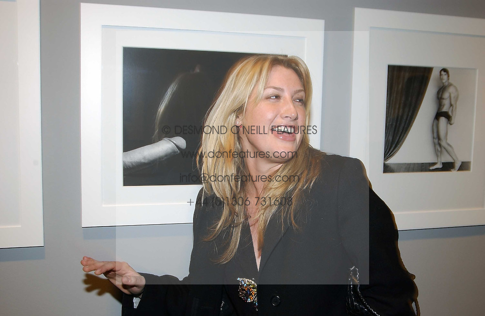 MISS GEORGINA COHEN at a private view of an exhibition of photographs by the late Robert Mapplethorpe curated by artist David Hockney at the Alison Jacques Gallery, 4 Clifford Street, London W1 on 13th January 2005.<br /><br />NON EXCLUSIVE - WORLD RIGHTS