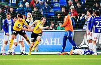 Fotball , 13. april 2014 , Eliteserien , Tippeligaen<br /> Sarpsborg - Start 1-1<br /> jubel for scoring , Rolf Daniel Vikstøl , Start og Alexander Lind (16) , Start<br /> Bak: Duwayne Kerr , Sarpsborg