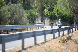 Ane Santesteban Gonzalez (ESP) of Ale-Cipollini Cycling Team starts the days first long descent on Stage 8 of the Giro Rosa - a 141.8 km road race, between Baronissi and Centola fraz. Palinuro on July 7, 2017, in Salerno, Italy. (Photo by Balint Hamvas/Velofocus.com)
