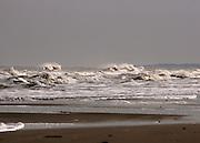 Stormy sea at Jekyll Island Beach