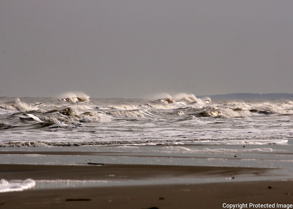Stormy sea at Jekyll Island Beach