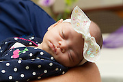 Zyan Misenheimer sleeps peacefully during a return visit to Round Rock Medical Center Friday.  The non-profit organization, Hand to Hold and St. David's Medical Center organized a Mother's Day Brunch Friday afternoon.