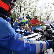 Action from the Col de la Redoute climb during the 2018 Liège-Bastogne-Liège elite men's race on Sunday 22 April 2018.
