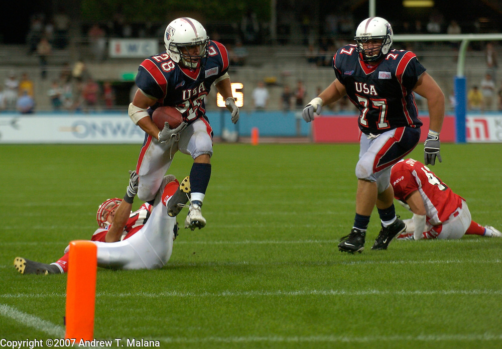 Team USA vs Team Japan..Doug Blakowski in action during the Gold Medal game against Team Japan  at Todoroki Stadium..