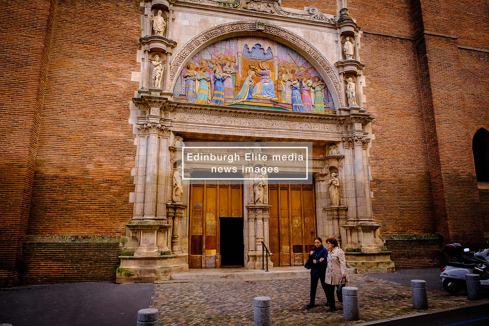 The main entrance to thee Église Notre-Dame de la Dalbade, Toulouse, France<br /> <br /> (c) Andrew Wilson | Edinburgh Elite media