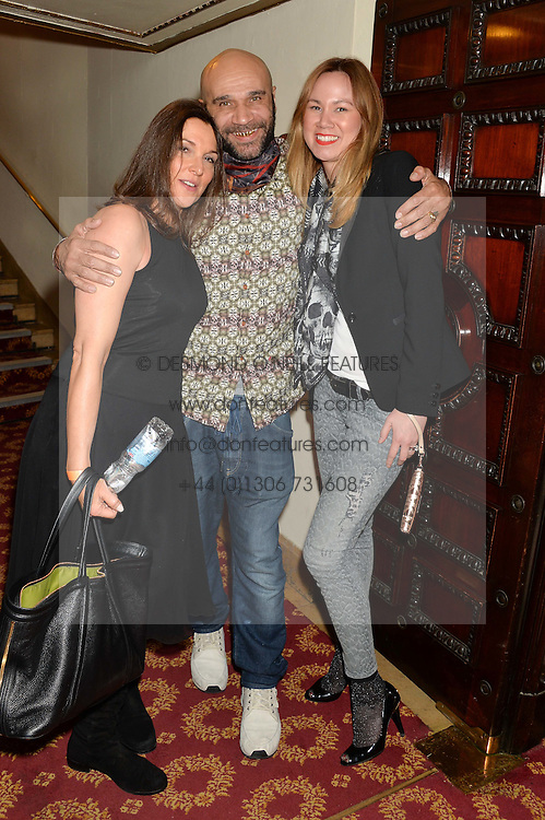 Left to right, BARBARA BROCCOLI, GOLDIE and MIKA WASSENAAR at a gala performance of 'Once The Musical' in aid of Oxfam held at the Phoenix Theatre, 110 Charing Cross Road, London on 17th March 2014.