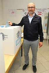 LUCA BERTACCINI AL VOTO A ARGENTA<br /> ELEZIONI AMMINISTRATIVE 2019