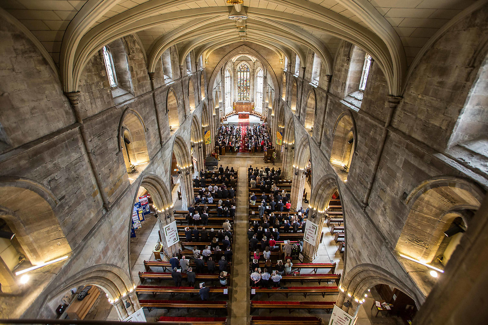 Photographing event at Linlithgow for West Lothian Council St Michael's Church Linlithgow.