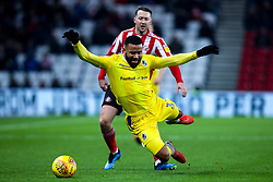 Alex Jakubiak of Bristol Rovers is fouled by Aidan McGeady of Sunderland - Mandatory by-line: Robbie Stephenson/JMP - 15/12/2018 - FOOTBALL - Stadium of Light - Sunderland, England - Sunderland v Bristol Rovers - Sky Bet League One