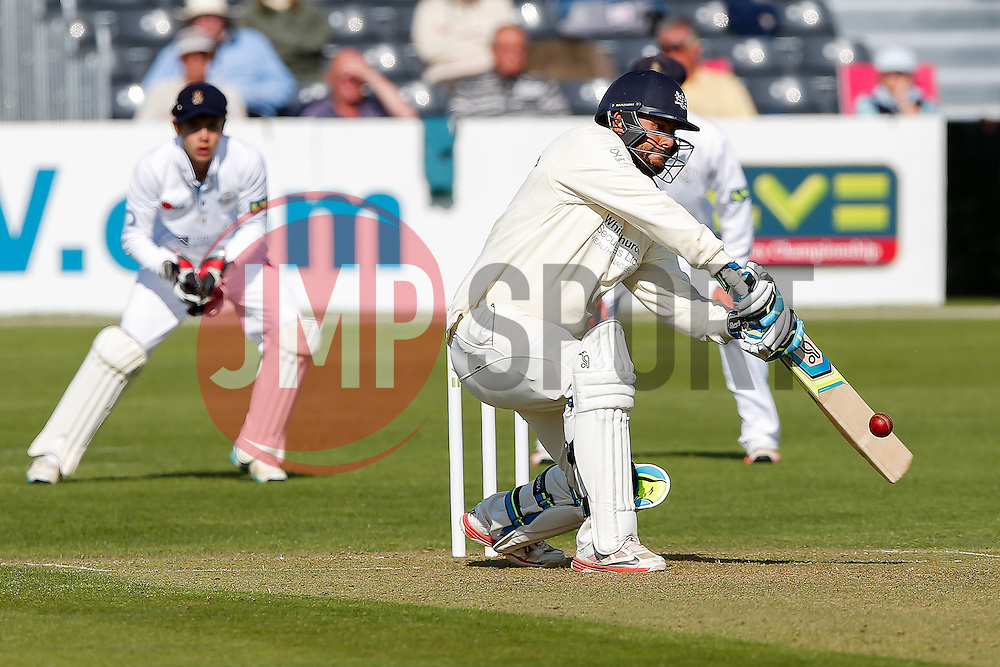 Kieran Noema-Barnett of Gloucestershire bats - Photo mandatory by-line: Rogan Thomson/JMP - 07966 386802 - 26/04/2015 - SPORT - CRICKET - Bristol, England - Bristol County Ground - Gloucestershire v Derbyshire — Day 1 - LV= County Championship Division Two.