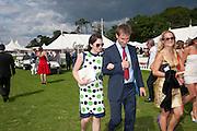 RUTH WILSON; TOBIAS MENZIES, Cartier International Polo. Guards Polo Club. Windsor Great Park. 25 July 2010. -DO NOT ARCHIVE-© Copyright Photograph by Dafydd Jones. 248 Clapham Rd. London SW9 0PZ. Tel 0207 820 0771. www.dafjones.com.