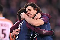 SOCCER : Paris SG vs Montpellier - League 1 - 01/27/2018<br /> 09 EDINSON CAVANI (psg) - JOIE<br /> <br /> Norway only