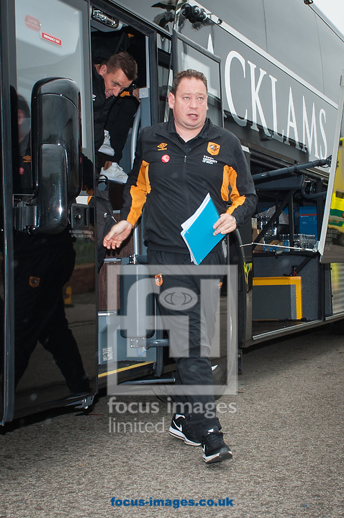 Hull City manager Leonid Slutsky arrives at Oakwell. Barnsley, prior to the Sky Bet Championship match between Barnsley and Hull City <br /> Picture by Matt Wilkinson/Focus Images Ltd 07814 960751<br /> 21/10/2017