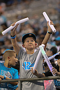 A young Carolina Panthers fan during Fan Fest at Bank of America Stadium, Friday, Aug. 2, 2019, in Charlotte, NC. (Brian Villanueva/Image of Sport)