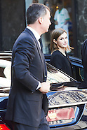 032316 Spanish Royals visist Belgium embassy residence in Madrid