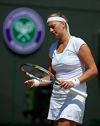 LONDON, ENGLAND - Saturday, June 30, 2012: Petra Kvitova (CZE) during the Ladies' Singles 3rd Round match on day five of the Wimbledon Lawn Tennis Championships at the All England Lawn Tennis and Croquet Club. (Pic by David Rawcliffe/Propaganda)