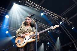 "© Licensed to London News Pictures . 02/07/2015 . Manchester , UK . LIANNE LA HAVAS performs at the Castlefield Bowl at the opening of "" Summer in the City "" festival in Manchester. Photo credit : Joel Goodman/LNP"