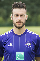 July 11, 2017 - Brussels, BELGIUM - Anderlecht's Massimo Bruno poses for photographer at the 2017-2018 season photo shoot of Belgian first league soccer team RSC Anderlecht, Tuesday 11 July 2017 in Brussels. BELGA PHOTO LAURIE DIEFFEMBACQ (Credit Image: © Laurie Dieffembacq/Belga via ZUMA Press)