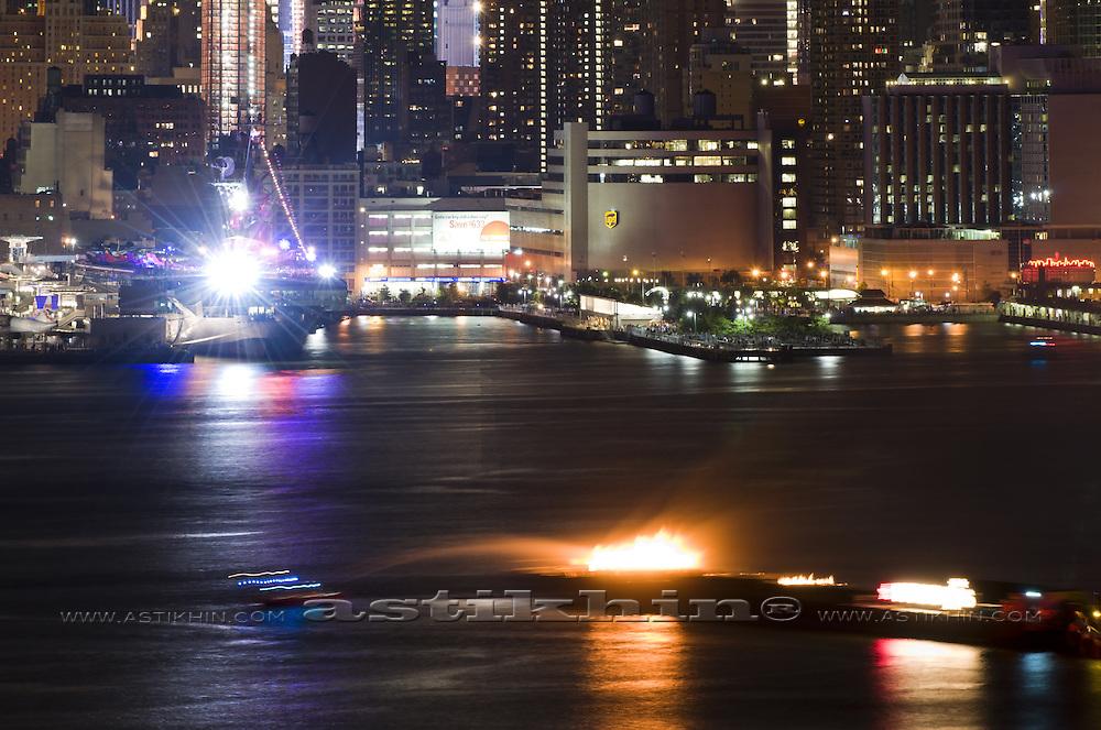 Fire on Hudson River