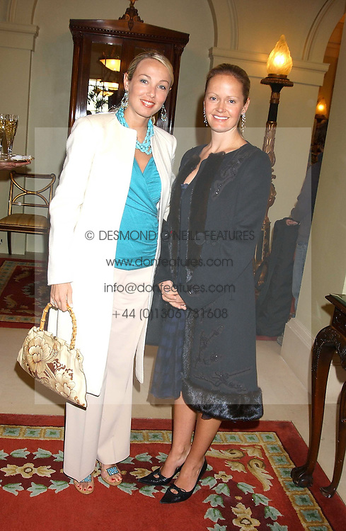 Left to right, SUNSHINE FITZGERALD and KYLIE FLYNN at the CLIC Sargent's Yumy Mummy lunch held at The Lanesborough Hotel, Hyde Park Corner, London on 20th September 2005.<br /><br />NON EXCLUSIVE - WORLD RIGHTS