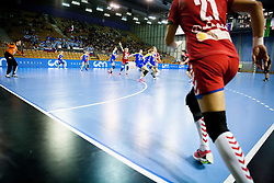 Sergeja Stefanisin of Slovenia (L) during handball match between Women National teams of Slovenia and Serbia in 2nd Round of Qualifications for 2014 EHF European Championship on October 27, 2013 in Hala Tivoli, Ljubljana, Slovenia. Slovenia defeated Serbia 31-26. (Photo by Vid Ponikvar / Sportida)