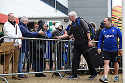 Bath Director of Rugby Todd Blackadder meets supporters prior to the match - Mandatory byline: Patrick Khachfe/JMP - 07966 386802 - 30/03/2018 - RUGBY UNION - Kingsholm Stadium - Gloucester, England - Bath Rugby v Exeter Chiefs - Anglo-Welsh Cup Final