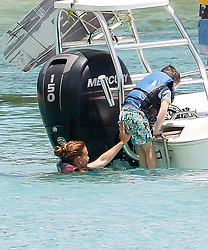 EXCLUSIVE: Wayne and Coleen Rooney are spotted on a luxury catamaran with their sons while on holiday in Barbados. 28 May 2018 Pictured: Wayne and Coleen Rooney. Photo credit: MEGA TheMegaAgency.com +1 888 505 6342