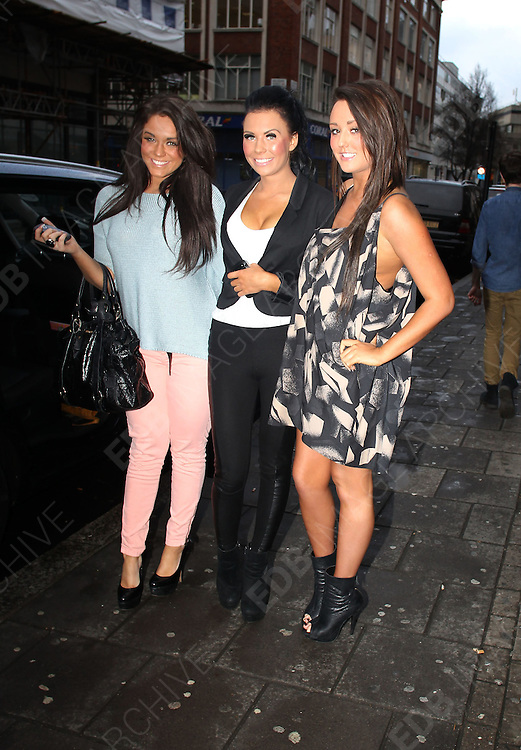 26.JANUARY.2012. LONDON<br /> <br /> CHARLOTTE-LETITIA CROSBY AND REBECCA WALKER FROM GEORDIE SHORE AT THE RADIO 1 STUDIOS IN LONDON<br /> <br /> BYLINE: EDBIMAGEARCHIVE.COM<br /> <br /> *THIS IMAGE IS STRICTLY FOR UK NEWSPAPERS AND MAGAZINES ONLY*<br /> *FOR WORLD WIDE SALES AND WEB USE PLEASE CONTACT EDBIMAGEARCHIVE - 0208 954 5968*