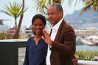 Kessen Tall and Abderrahmane Sissako at the photocall for the film Timbuktu at the 67th Cannes Film Festival, Thursday 15th May 2014, Cannes, France.